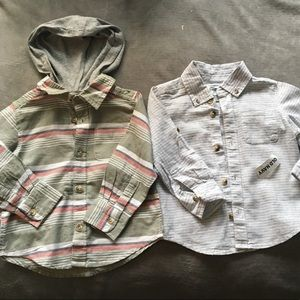 2 Old navy long sleeve button down's